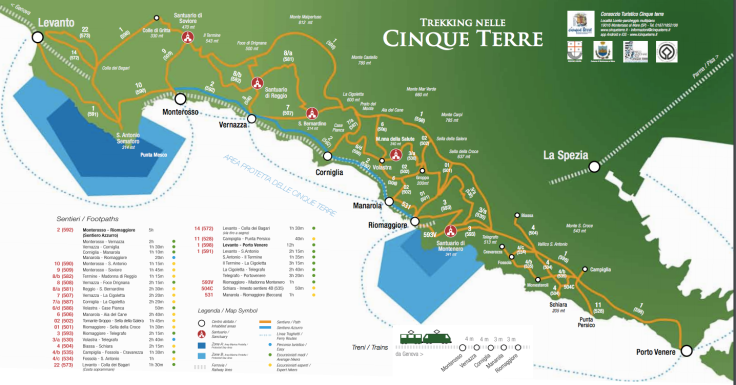 cinque terre trails, motorhome, camping, italy