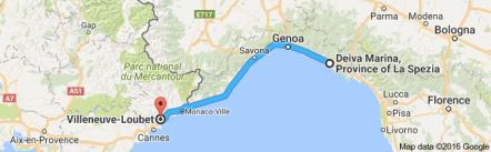 deiva marina, Italy, France, Villeneuve-Loubet