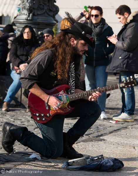 Naples, Italy, buskers