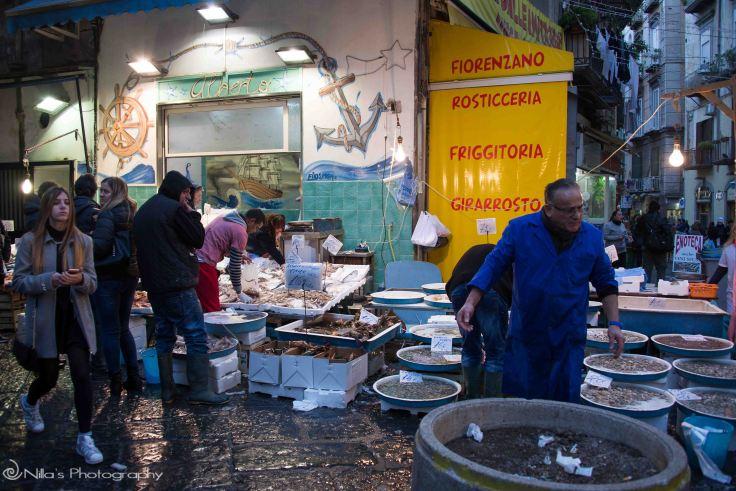 fish market, Naples, italy