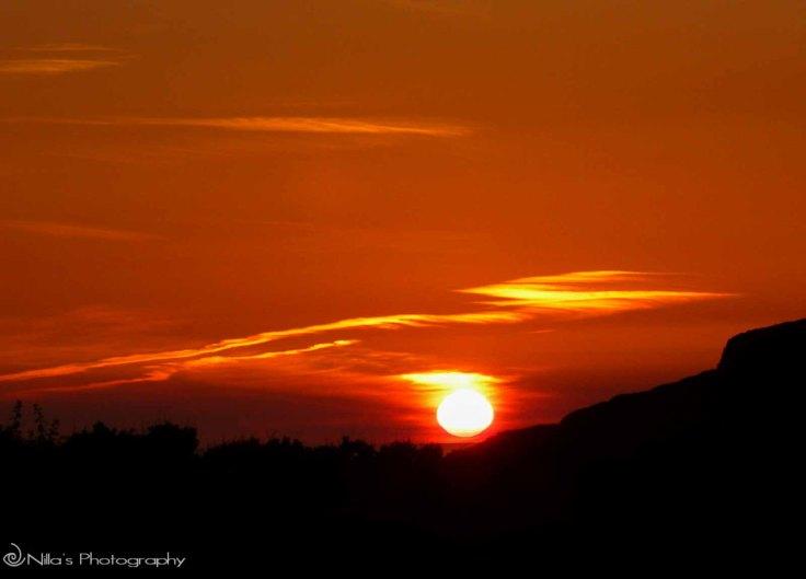 sunset, UK, motorhoming
