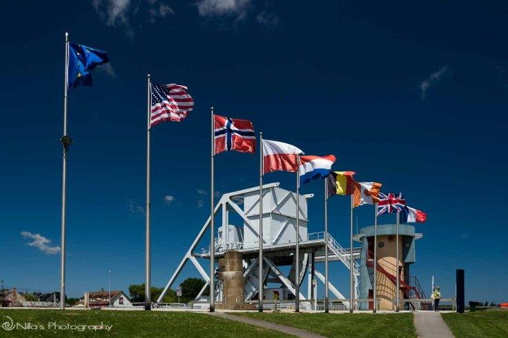 Flag, Pegasus, Normandy, France