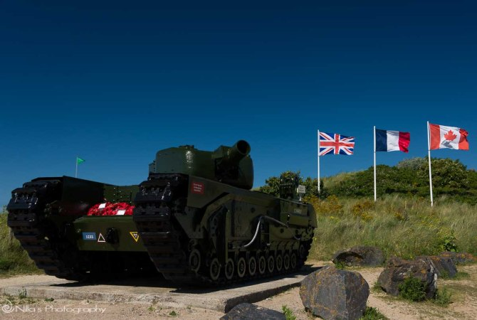 Courseulles-sur-Mer, Juno, Normandy, France, tank