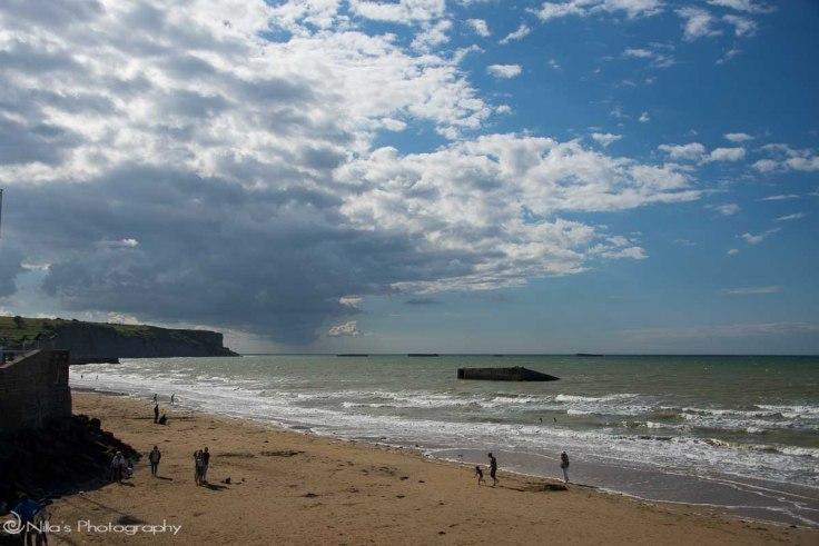 Mulberry Harbour, Arromanche, Normandy, France