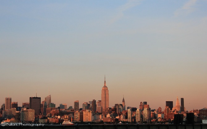 New York, USA, dusk
