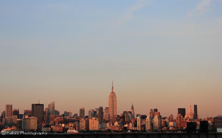 New York, USA, dusk