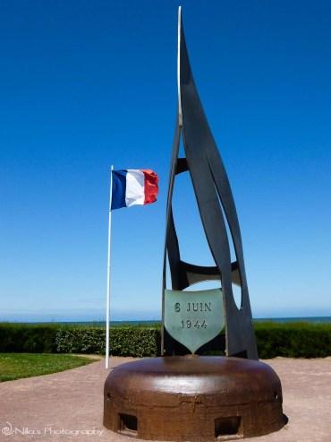 Flame memorial, Sword, Normandy, France