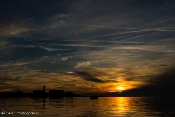 Trieste, Italy, sunset, Porto Vecchio