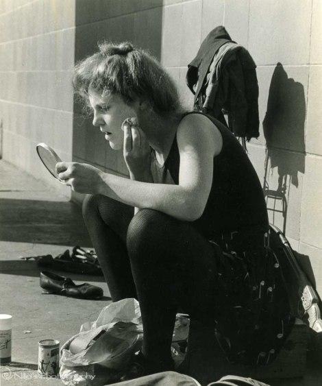 street performer, 35mm film, Circular Quay, Sydney, Australia