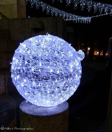 Calabria, Italy, Cosenza, Christmas lights