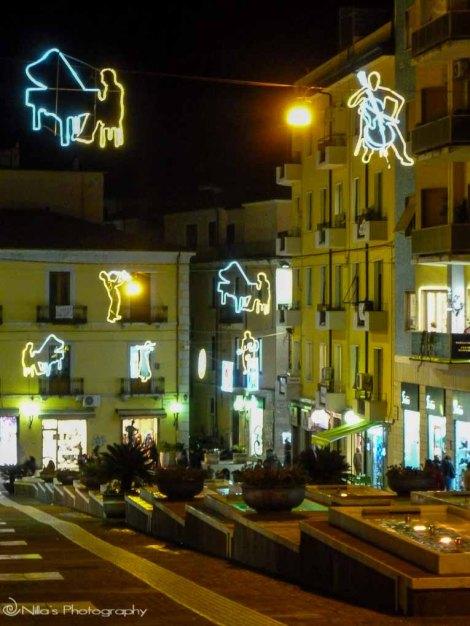 Christmas, Cosenza, Italy, Calabria, light art