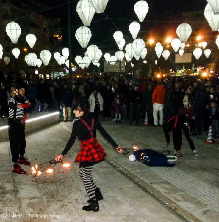 New Year's, Cosenza, Italy, Calabria, street performers