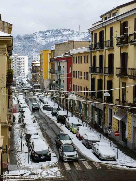 Cozenza, Italy, Calabria, snow