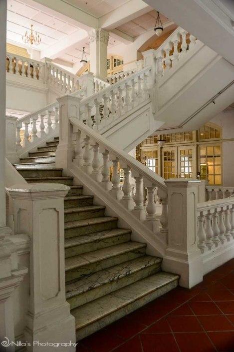 staircase, Raffles, Singapore