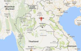map Vang Vieng, Laos