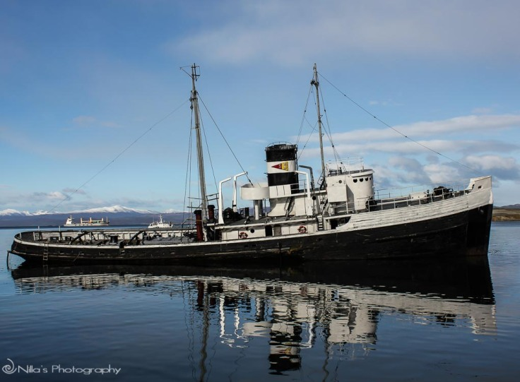 St Christopher aground, Ushuaia, Argentina, South America