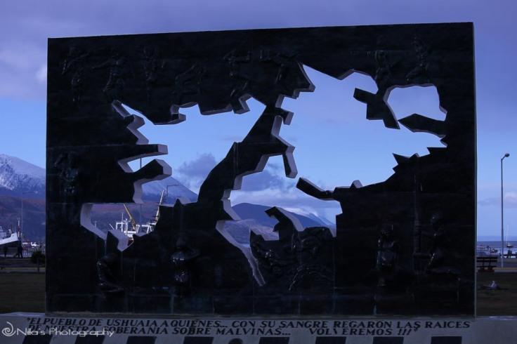 Ushuaia, Argentina, South America, memorial Falkland Islands
