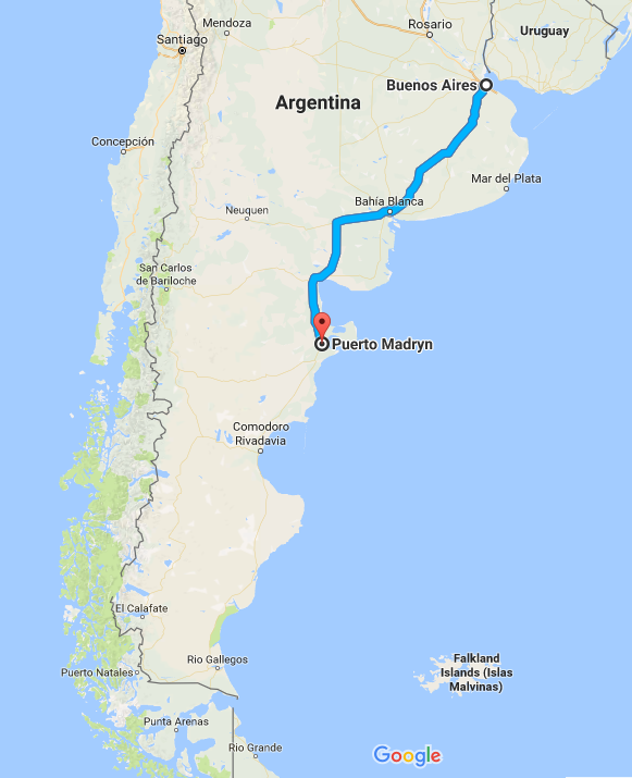 Bus Virgin Buenos Aires To Puerto Madryn Argentina Image - Argentina bus map