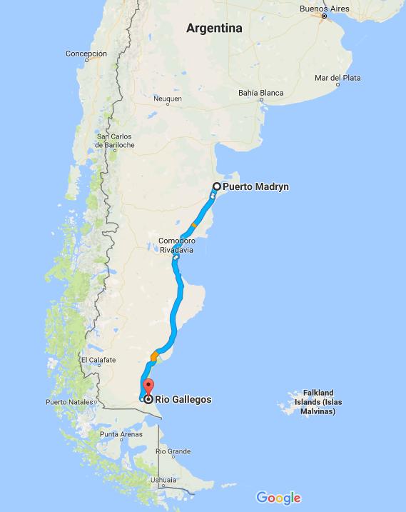 El pinghuino bus experience puerto madryn to rio for Jardin 17 rio gallegos