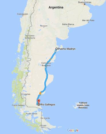 Puerto Madryn, Rio Gallegos, Argentina