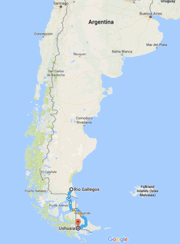 Rio Gallegos, Argentina, Ushuaia