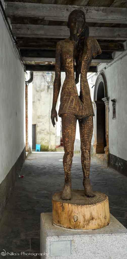 sculpture, Rogliano, Calabria, Italy, Europe