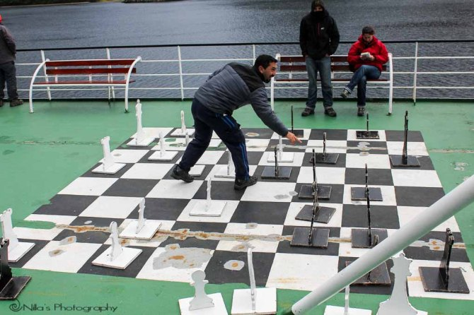 Patagonia, Chile, fjords, Navimag, ferry, chess