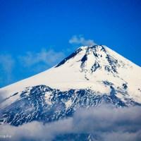 Awaiting the ascent of Vulcán Villarrica, Chile