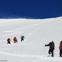 The ascent of Vulcán Villarrica, Chile