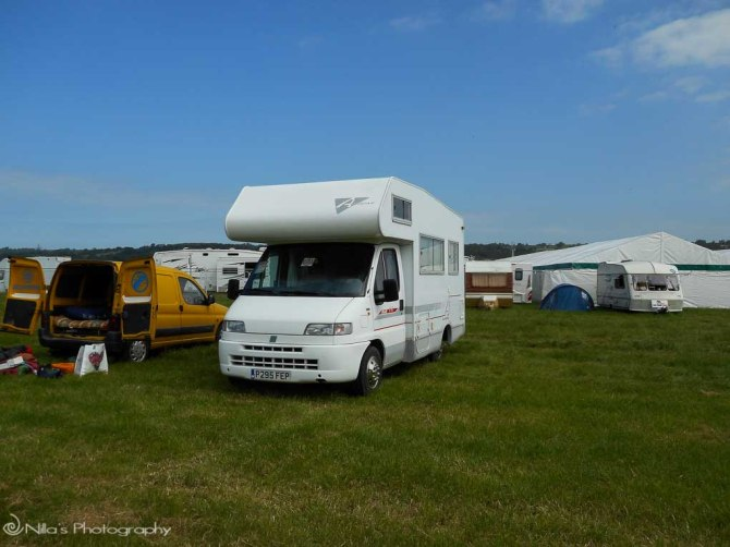 Glastonbury Festival, Somerset, motorhome, England, United Kingdom