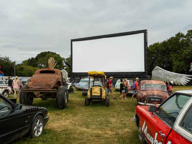 Cineramageddon, Glastonbury Festival, Somerset, England, United Kingdom