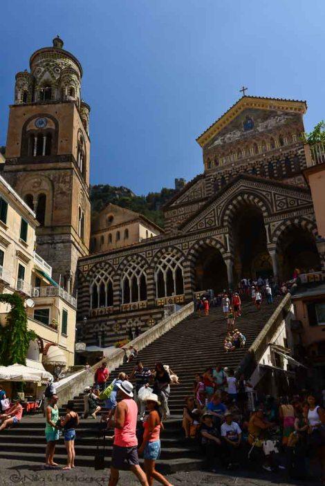 Duomo, Amalfi coast, Italy, boat