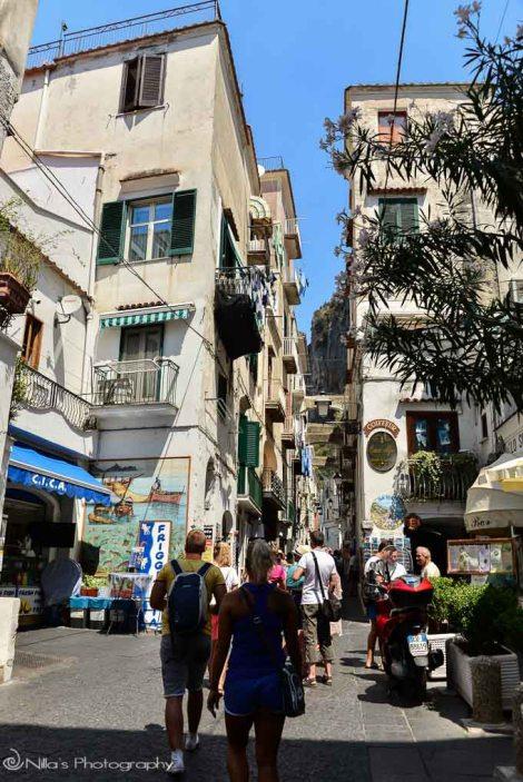 Street, Amalfi, coast, Italy, boat