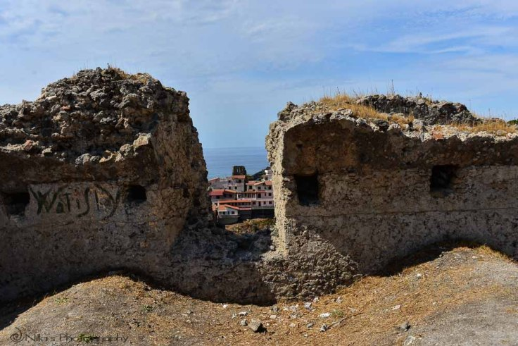 Old Town, castle, Scalea, Calabria, Italy