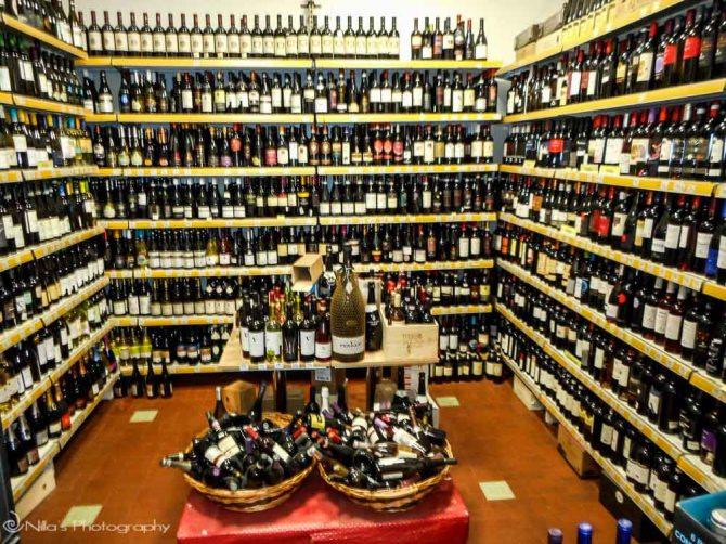 Supermarket, wine, Cosenza, Calabria, Italy