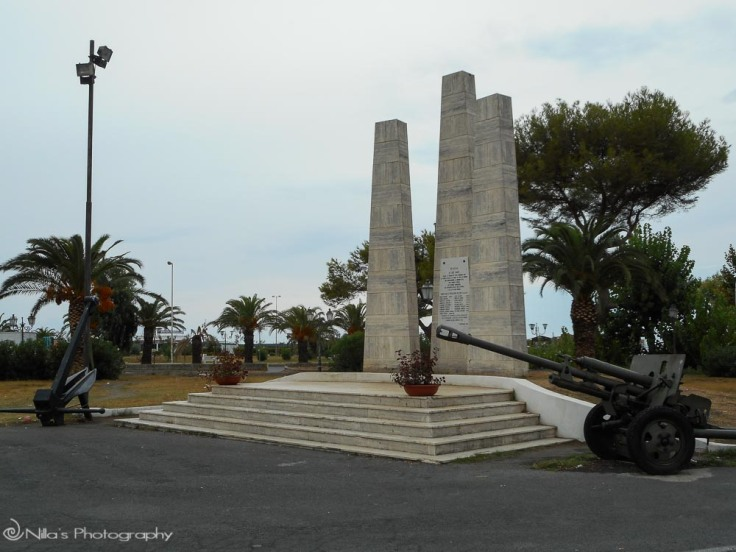 WWII memorial, Scalea, Calabria, Italy