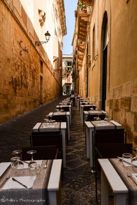 restaurant, Ortigia, Syracuse, Sicily, Italy