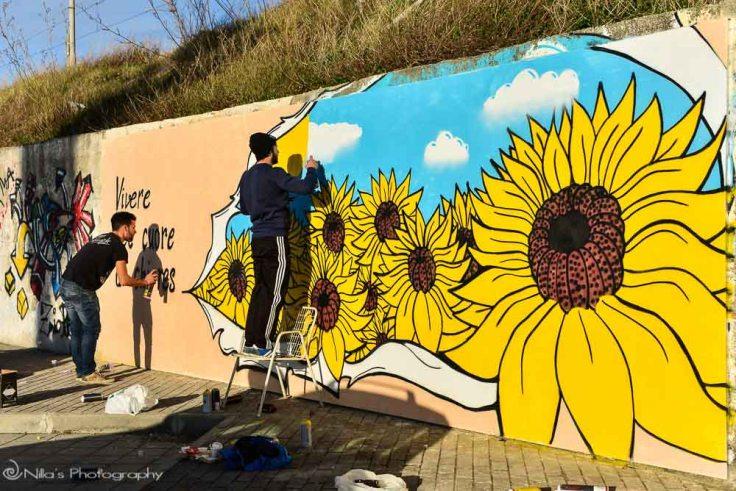 Street art, Paola, Calabria, italy