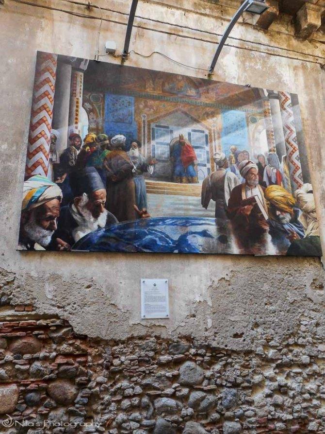 historic painting, Cosenza, Calabria, Italy