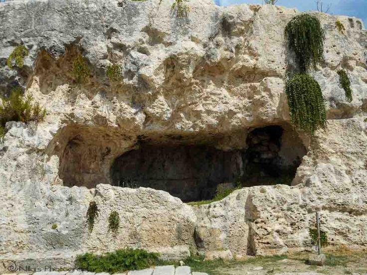 Teatro Greco caves, Syracuse, Sicily, Italy