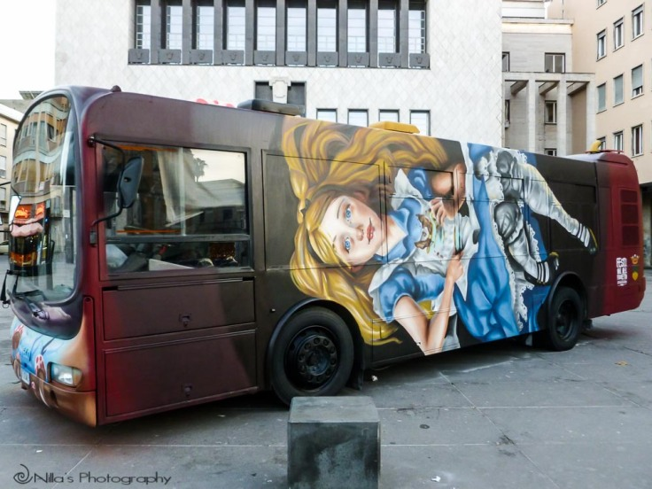 Bus art, Cosenza, Calabria, Italy