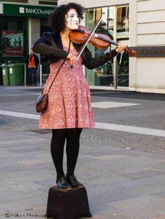 Violinist, Cosenza, Calabria, Italy
