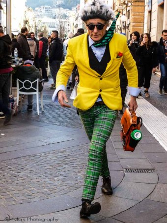 Street performer, Cosenza, Calabria, Italy