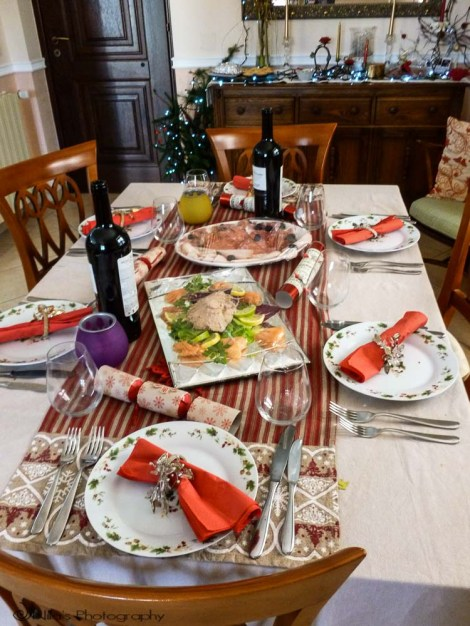 Christmas lunch, Rogliano, Calabria, Italy