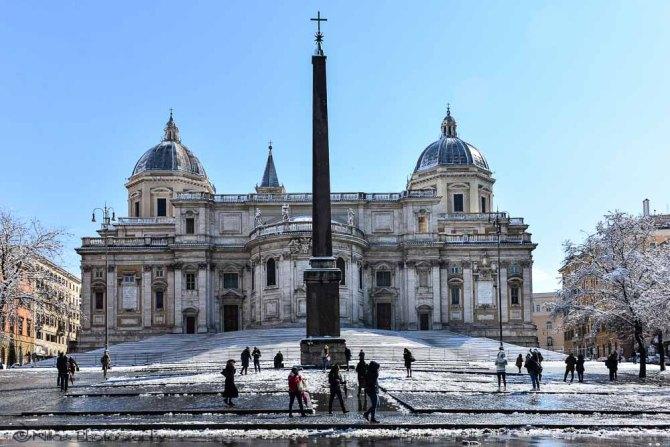Rome, snow, Italy