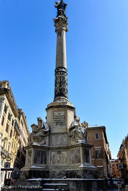 Piazza di Spagna, Rome, snow, Italy
