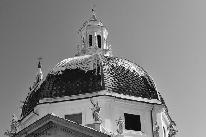 Rome, snow, Italy, Piazza del Popolo
