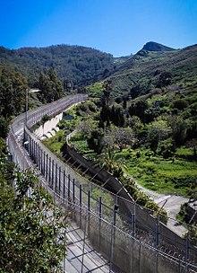 border fence, Ceuta, Africa, Morocco, Spain