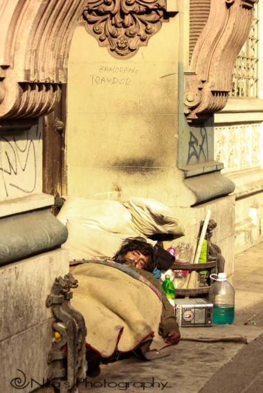 homeless, Santiago, Chile