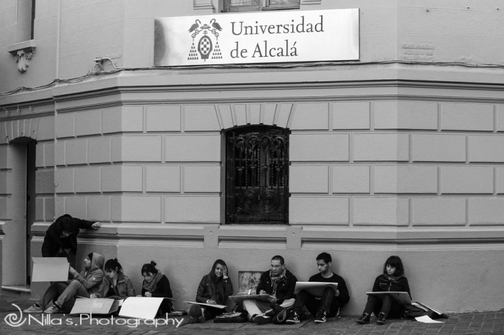 art students, Santiago, Chile, South America